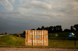 country chic wedding welcome sign portrait by MN wedding photographer Nicki Joachim Photography of Owatonna Minnesota
