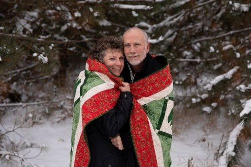Outdoor Couple's Session in the winter for a Christmas Portrait by MN Photographer Nicki Joachim Photography of Owatonna Minnesota (2)