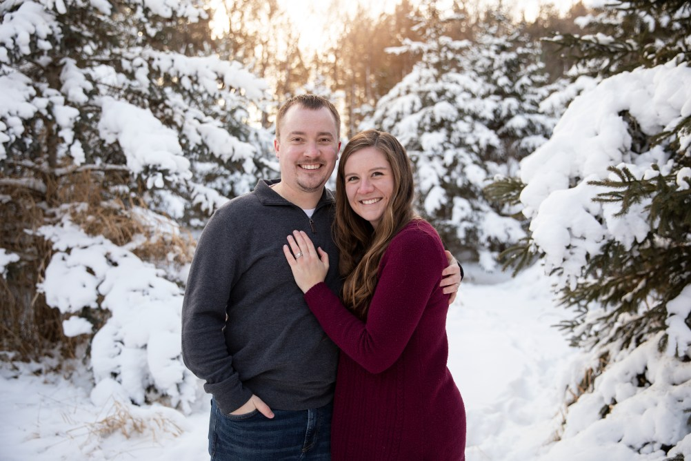 Outdoor couple portrait in a family photo session by MN Family Photographer Nicki Joachim Photography of Owatonna, Minnesota