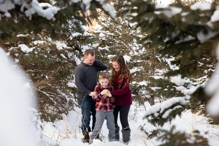 Winter outdoor family photo session by MN Family Photographer Nicki Joachim Photography of Owatonna, Minnesota