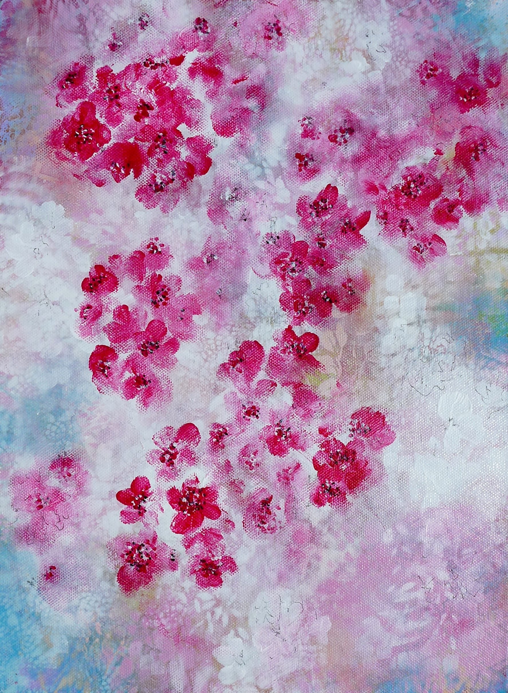 'Blossom 4' painting by Nicki MacRae.