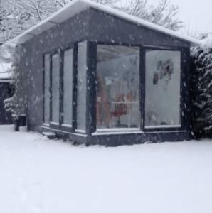 Nicki MacRae's Art Studio in the January Snow