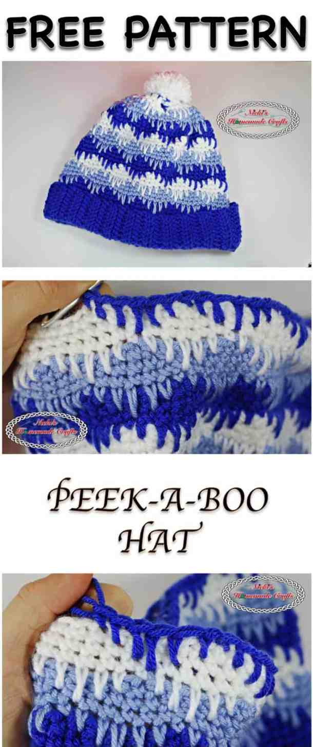 PEEK-A-BOO Hat Free Pattern