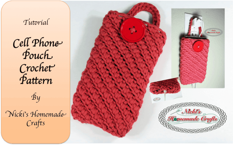 Cell Phone Pouch - Free Crochet Pattern - Nickis Homemade ...