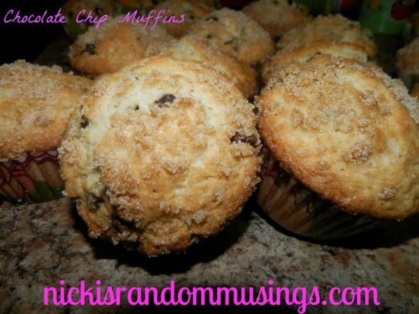 Chocolate Chip Muffins - Nicki's Random Musings