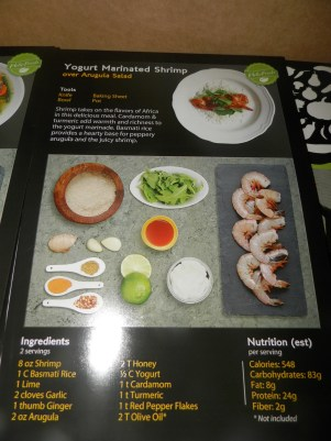 Yogurt Marinated Shrimp Recipe Card