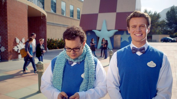 """FROZEN""  Josh Gad and Jonathan Groff sing about the ""Making of Frozen"". ©2014 Disney. All Rights Reserved."