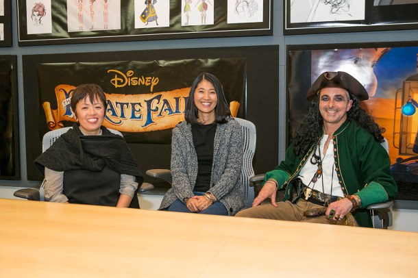 The Pirate Fairy LA Press Day at Disneytoon Studios. Pictured (L-R): Ritsuko Notani (Character Design), Yuriko Senoo (Animation Supervisor), Raymond Shenusay (Head of Story). Photo by Kayvon Esmaili. ©2014 Disney Enterprises, Inc. All Rights Reserved.