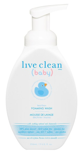 Live Clean Baby Tearless Foaming Wash with Pump