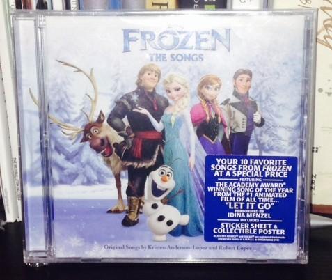 Frozen Songs CD