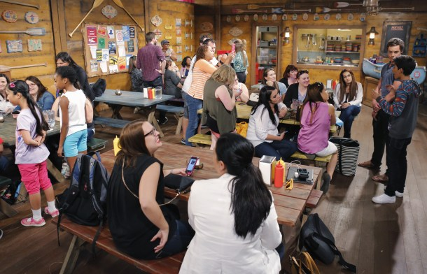 BUNK'D - Mommy Blogger event. - (Disney Channel/Tony Rivetti) NINA LU, SKAI JACKSON, KARAN BRAR, KEVIN G. QUINN
