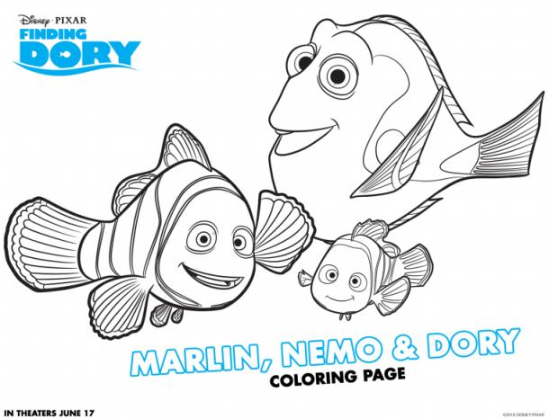 Finding Dory Coloring Sheets - Free Finding Dory Activity Sheets via nickisrandommusings.com