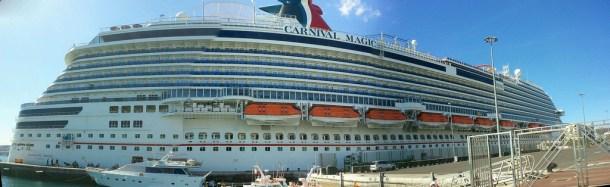 El Crucero Carnival Magic, en Las Palmas de Gran Canaria