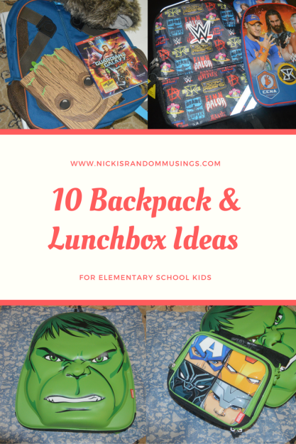 10 Backpacks and Lunchboxes for Kids in Elementary School