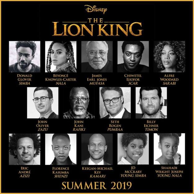 Cast Announcement for Live Action Lion King Movie