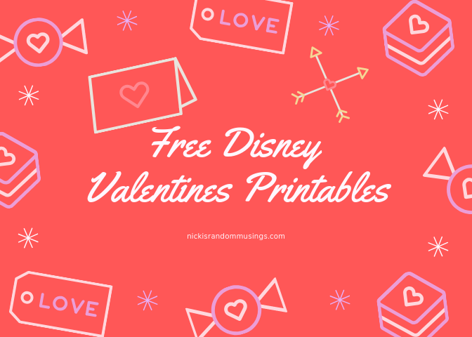 Free Disney Valentine's Day Printables