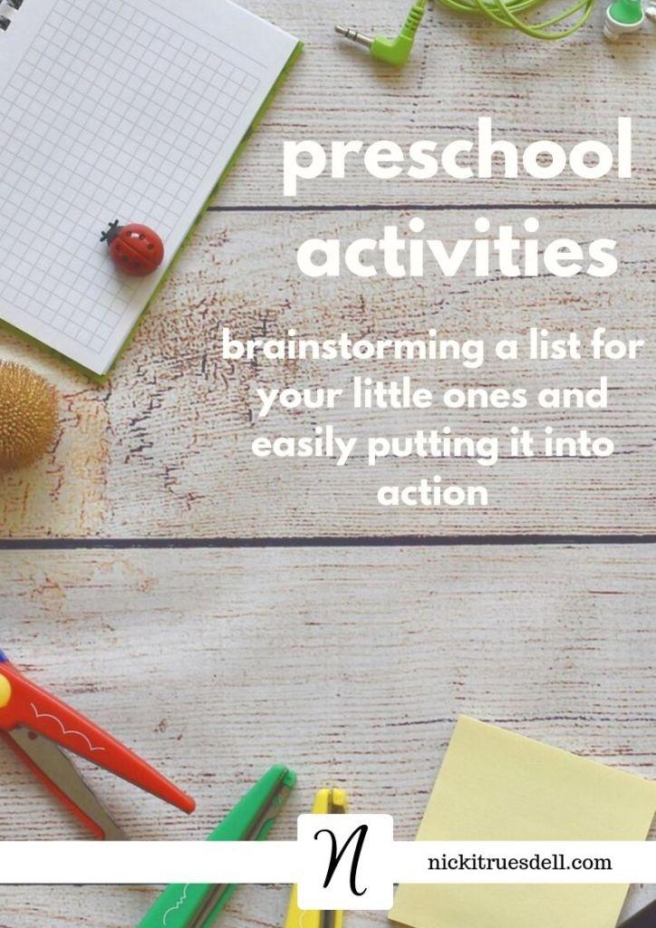Preschool activities list