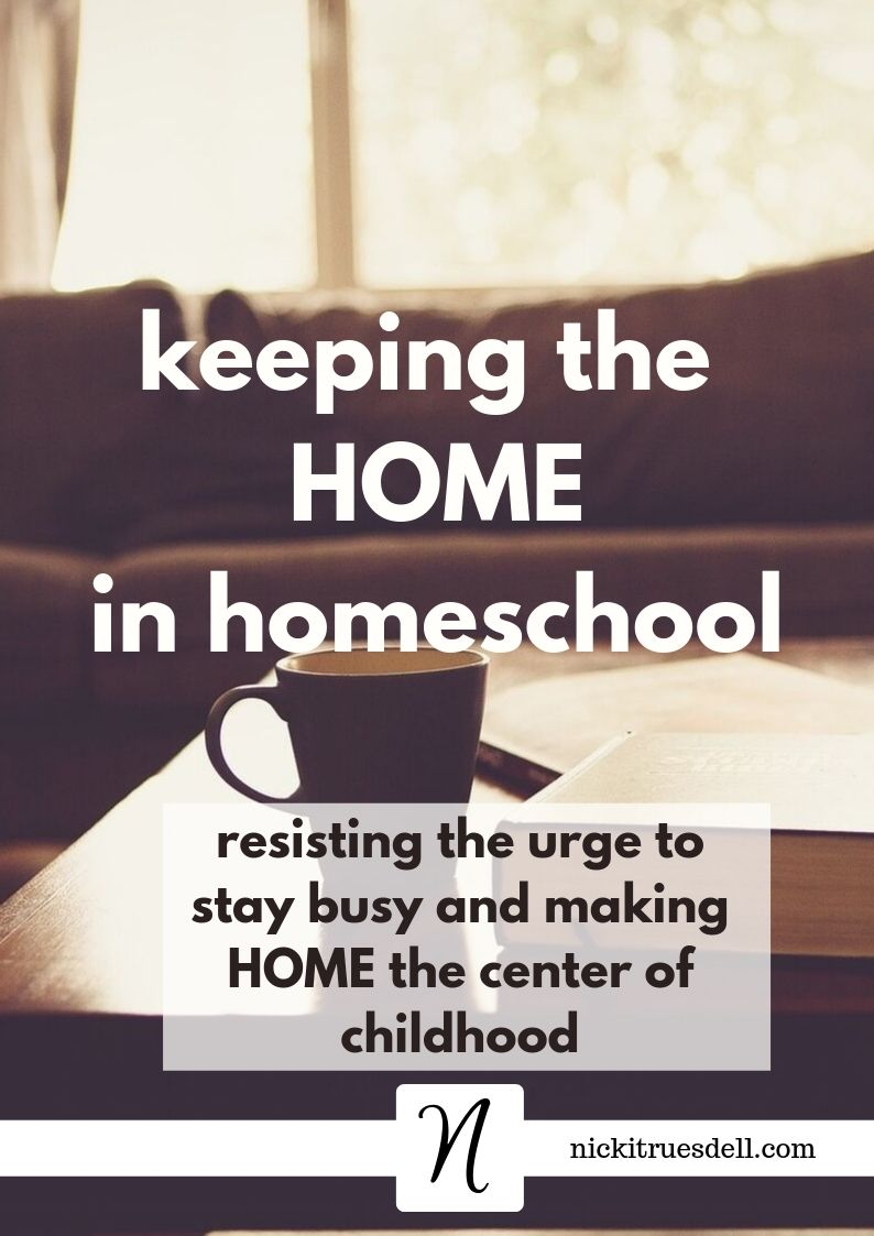 keeping the home in homeschool
