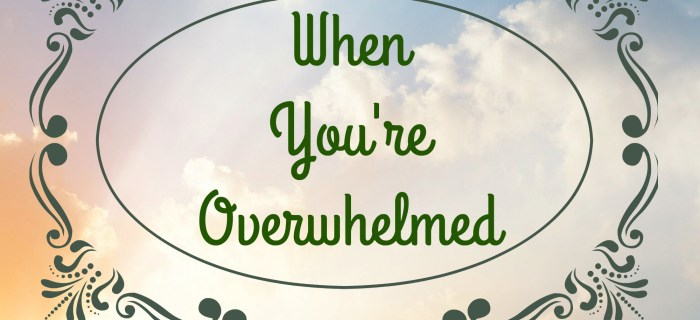 When You're Overwhelmed