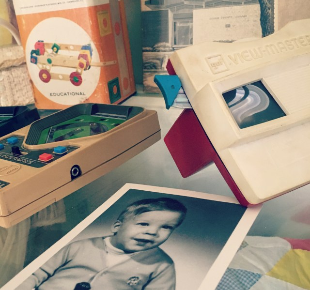 vintage toys view master electronic football builder set baby picture in family museum