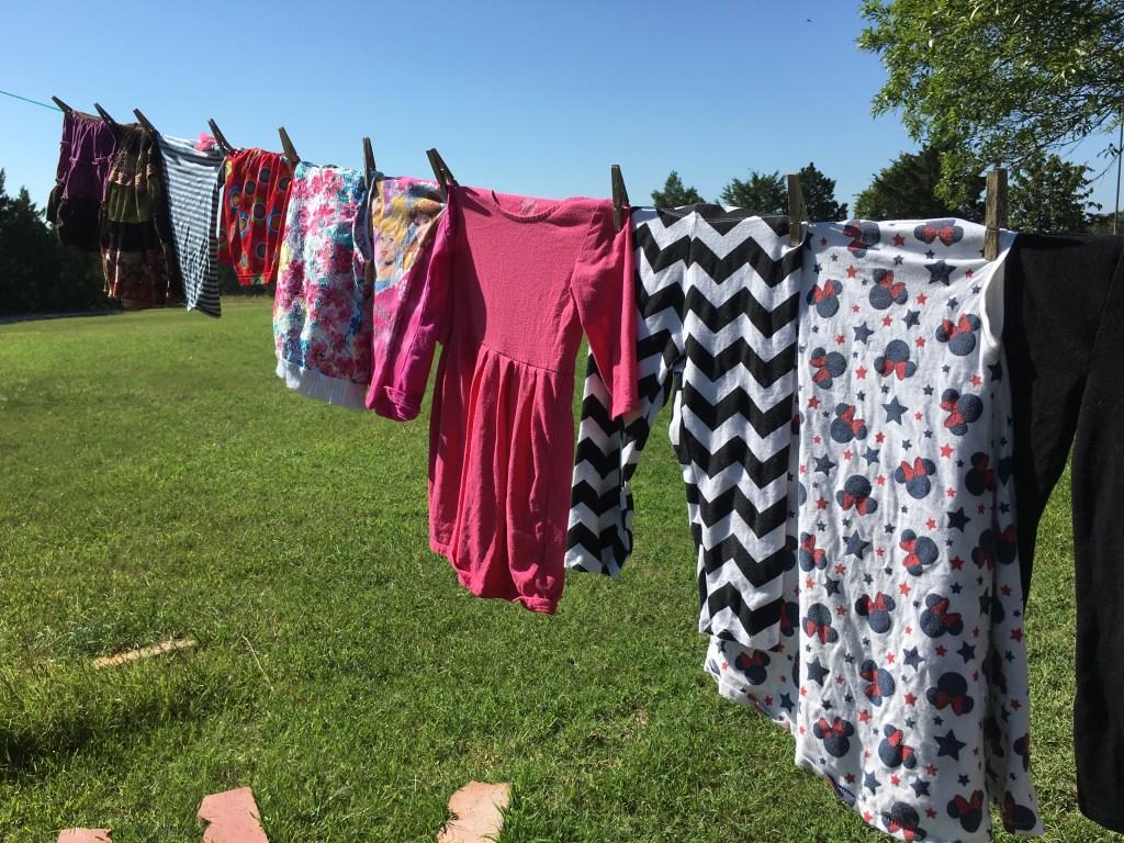 Clothesline on the homestead