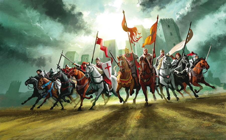 Knights Charging by MiguelCoimbra