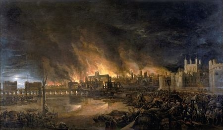 The Great Fire of London (artist unknown)