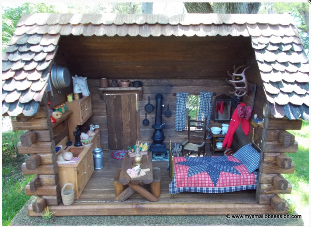 This miniature log cabin is a fun hands-on history activity...click here for lots more ideas...