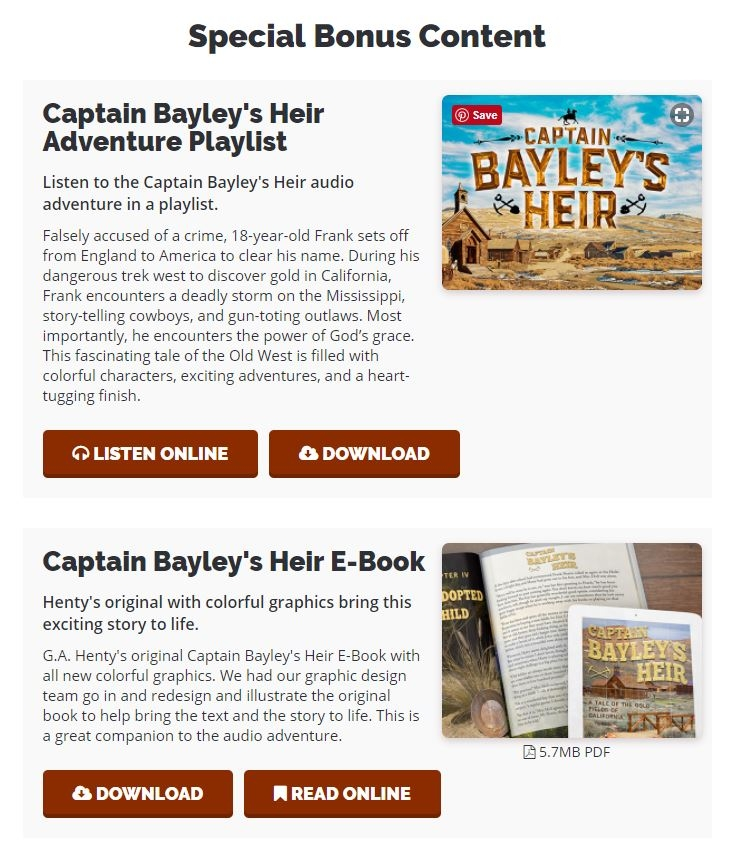 """This dramatized adventure audio of Henty's """"Captain Bailey's Heir"""" is an exciting story for family listening or younger children. Check out my review here..."""