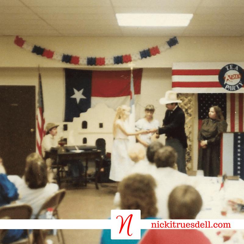 Homeschoolers celebrating the Texas sesquicentennial