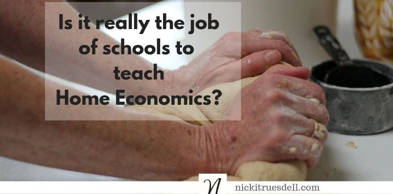 Is it really the job of schools to teach home economics?