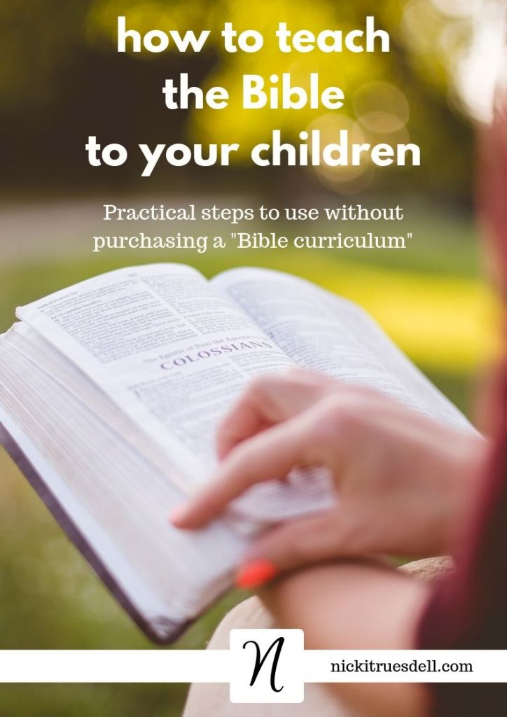 How to teach the Bible to your children...