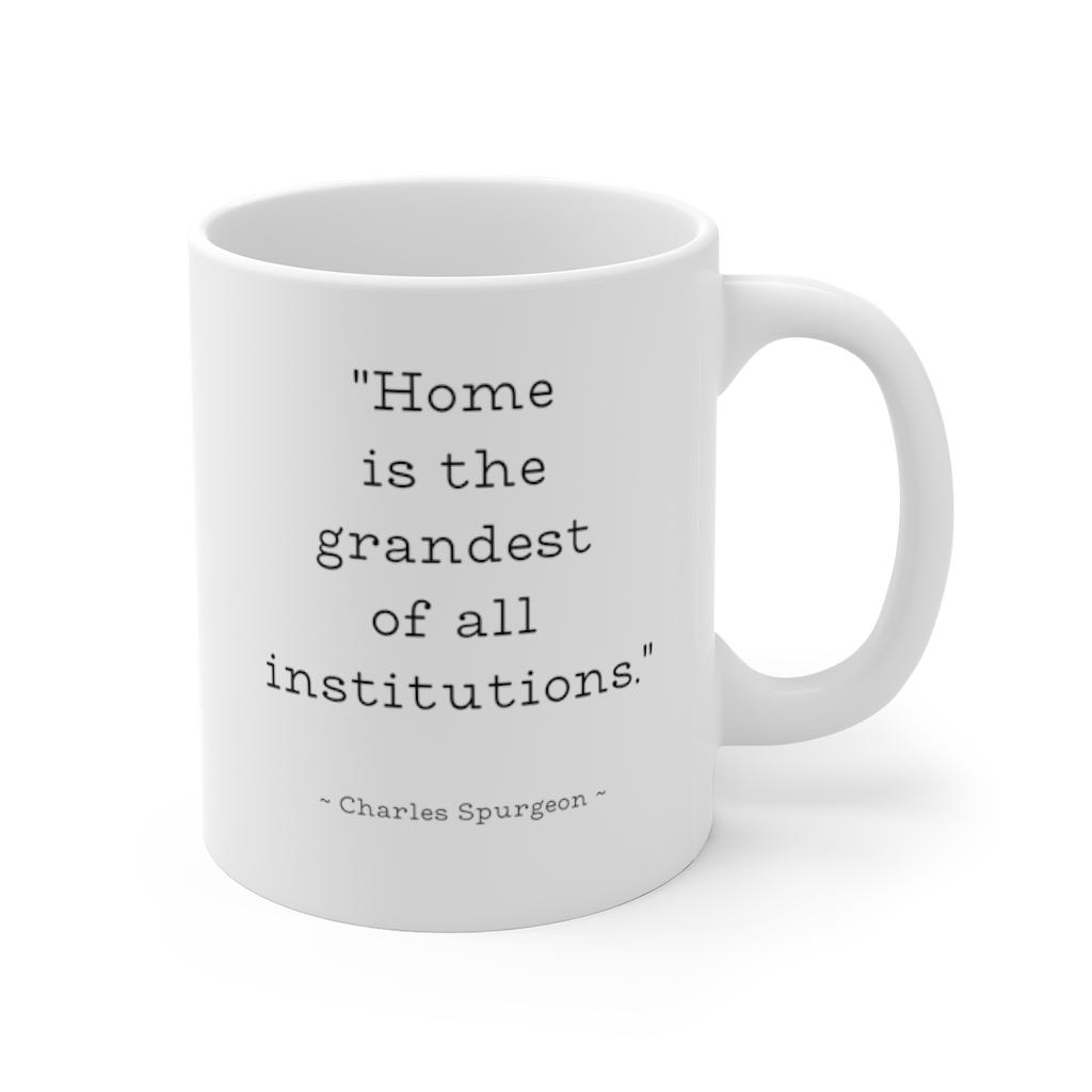 Charles Spurgeon Typewriter Font Coffee Mug