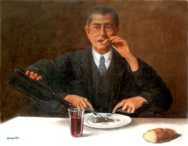 the magician, by Rene Magritte