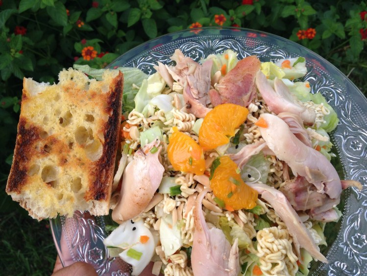 Tangerine Chicken Salad, I LOVE RAMEN Cookbook Giveaway, plus 2 reasons why its okay to be lazy.