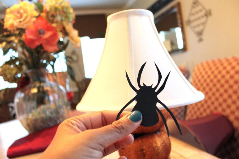 Dollar Store Craft Jack O Lantern Lamp And Crawling Spider Lampshade Nicki Woo
