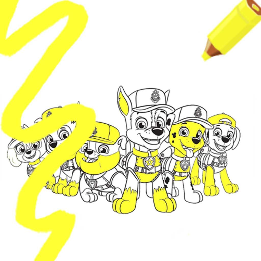 PAW Patrol Sea Patrol Group Colouring Page