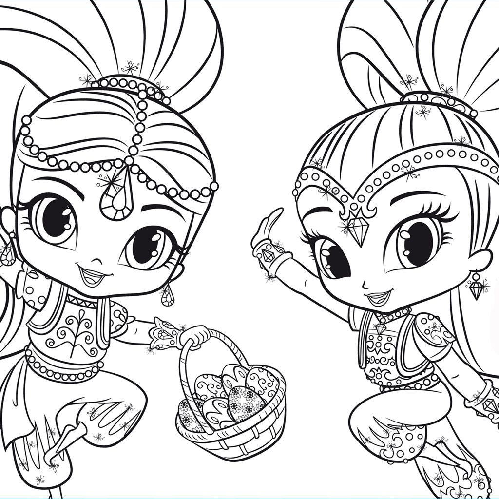 Incantevole disegni da colorare shimmer and shine per for Shimmer and shine da colorare