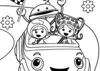 Colora i corridori: disegna con Team Umizoomi su Nick Jr.
