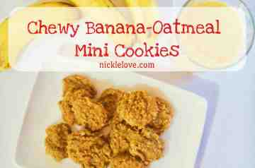 Chewy Banana Oatmeal Mini Cookies