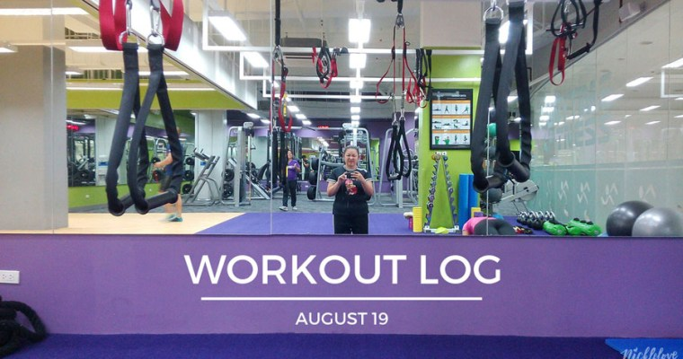 Workout Log – Aug. 19