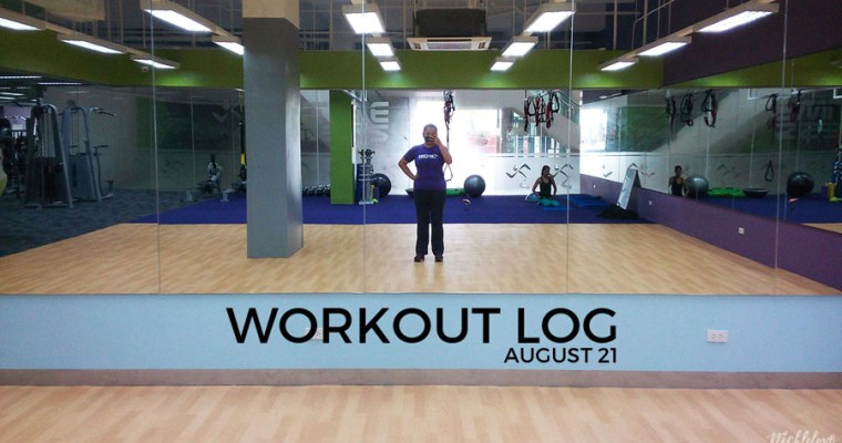 Workout Log – Aug. 21