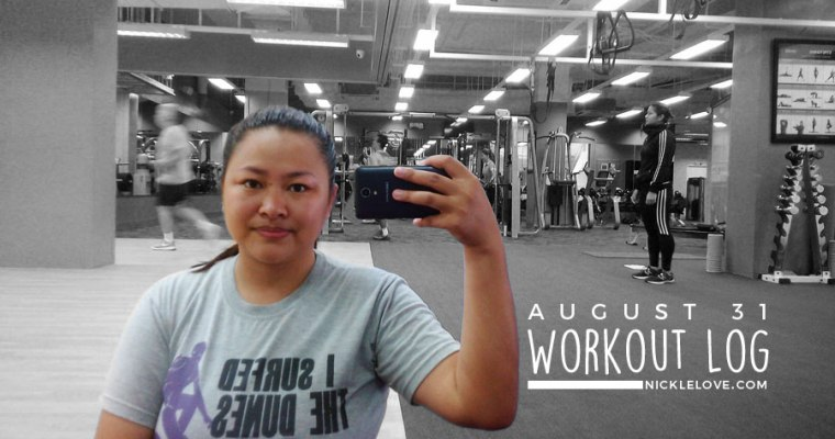 Workout Log – Aug. 31