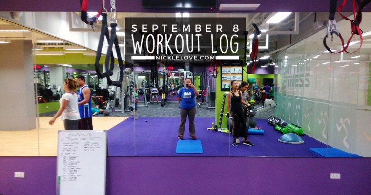 Workout Log – Sept. 8