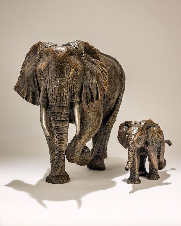 Bronze Elephant Sculpture Sold - Nick Mackman Animal