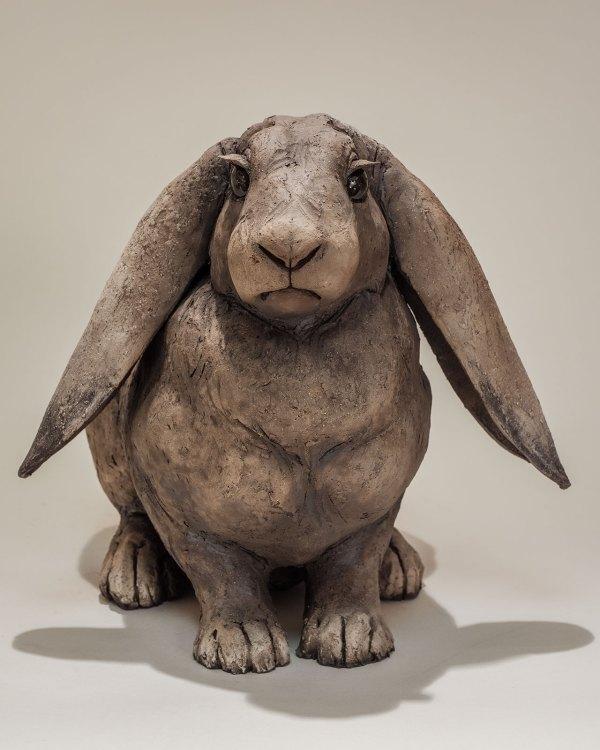 Rabbit Sculpture 1600 Sold - Nick Mackman Animal