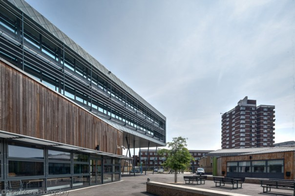 The very modern Bishop Challoner School in east London