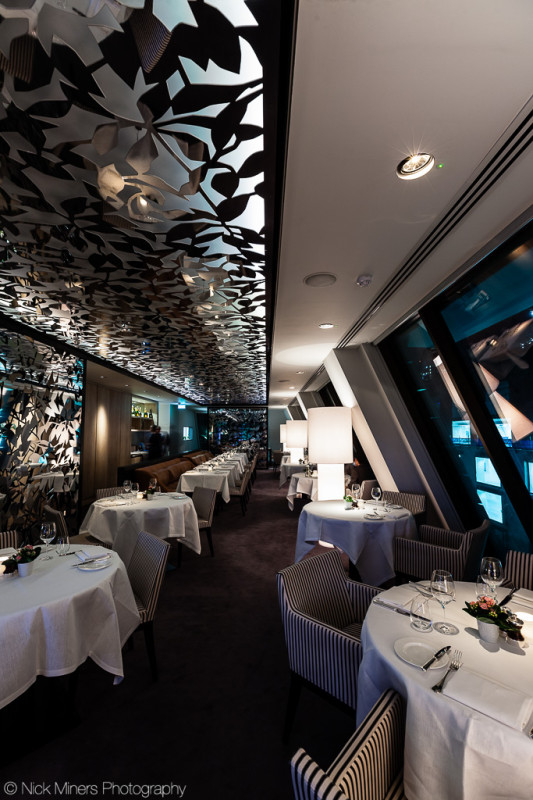 The Angler restaurant at the South Place Hotel in London