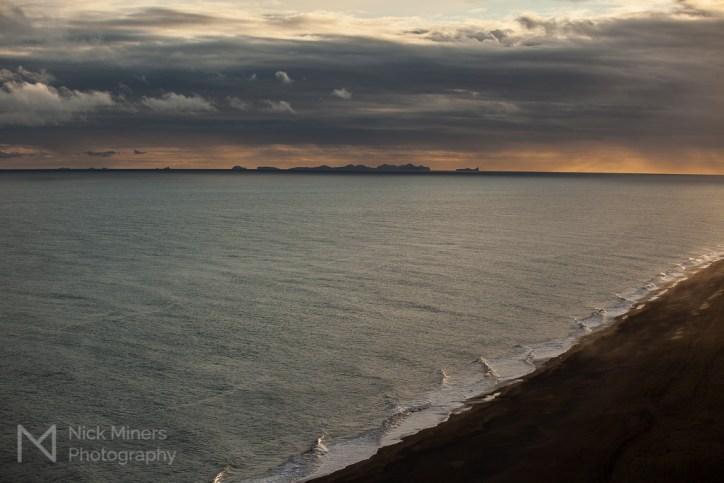 Vestmannaeyjar (the Westman Islands) seen from Dyrhólaey
