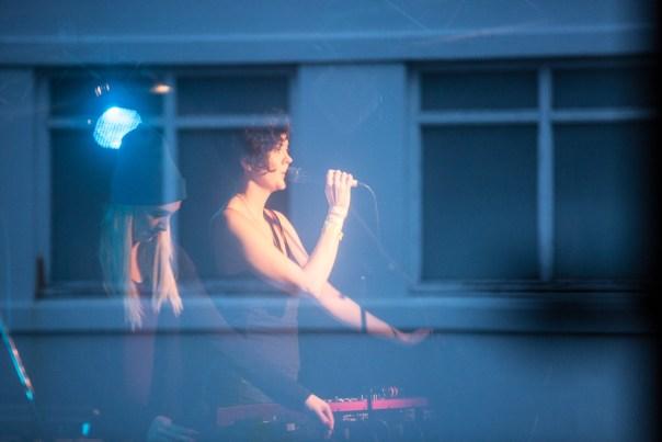 Hildur and Helga practice at the soundcheck